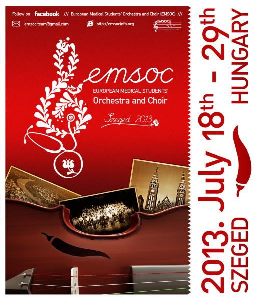 Plakat für EMSOC 2013, von www.emsocinfo.org